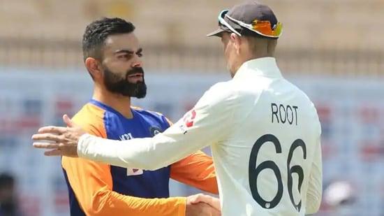 Indian captain Virat Kohli (L) and England Test captain Joe Root (R)(Twitter)