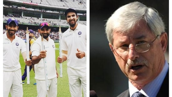 India pace trio of Jasprit Bumrah, Mohammed Shami, Ishant Sharma (left) and Richard Hadlee (right).(File)