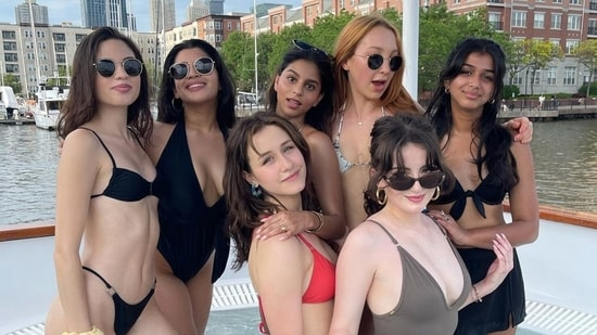 Suhana Khan with her friends in New York.