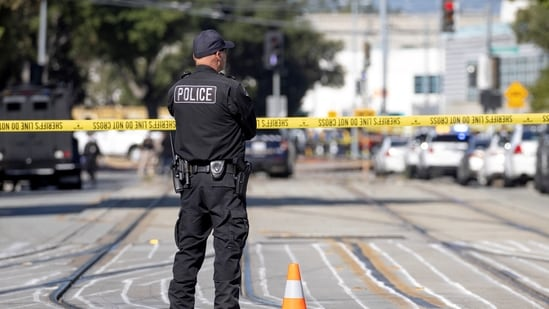 Police secure the scene of a mass shooting at a rail yard run by the Santa Clara Valley Transportation Authority in San Jose, California. (REUTERS)