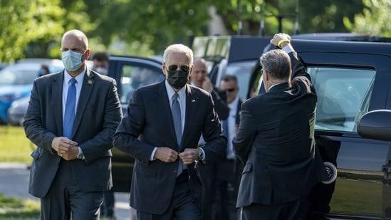 "US President Joe Biden said the majority of the intelligence community had ""coalesced"" around those two likely scenarios.(Bloomberg)"