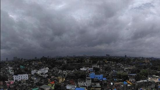 Clouds covering the sky of the city after the landfall of the very severe cyclone Yaas, in Kolkata on Wednesday. (ANI)