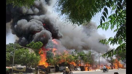 250 shanties gutted in Kapurthala fire
