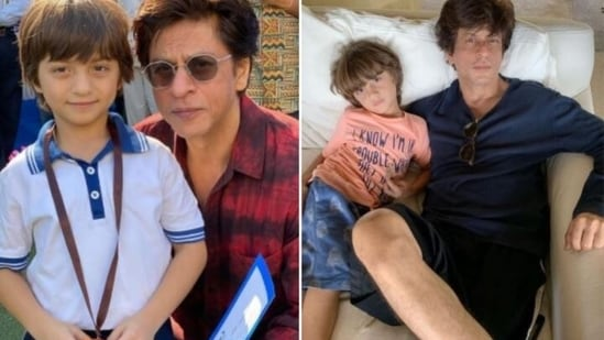 AbRam Khan with his dad and actor Shah Rukh Khan.