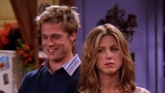 Jennifer Aniston and Brad Pitt in a still from Friends.