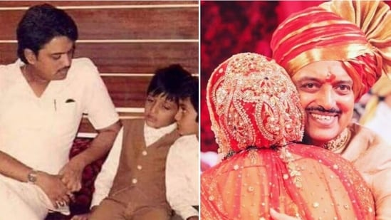Riteish Deshmukh and Genelia DSouza shared throwback pictures with late Vilasrao Deshmukh.