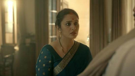 Maharani review: Huma Qureshi in a still from SonyLIV's new political drama.