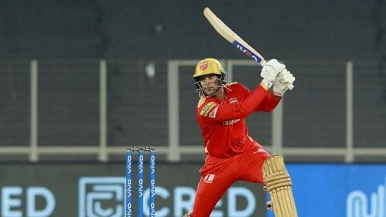 Punjab Kings' Mayank Agarwal in action against Delhi Capitals on May 2, 2021, during IPL 2021.(IPL/BCCI)