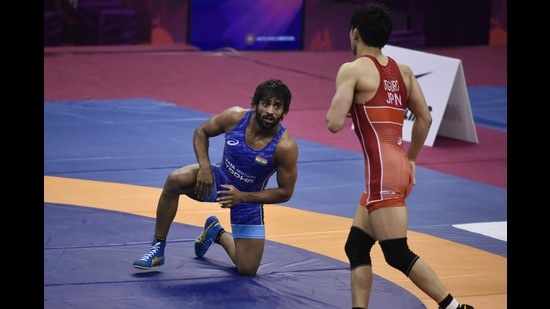Wrestler Bajrang Punia has been amplifying SOS messages on his social media platforms, to inspire people to help each other. (PHOTO: Vipin Kumar/HT)