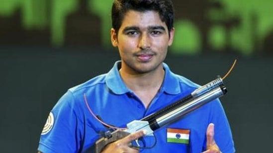 Indian shooter Saurabh Chaudhary.(PTI)