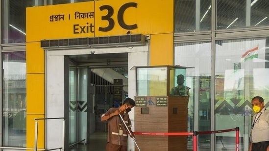 """The AAI in a series of tweets said, """"The closure will be reviewed as per the weather. Airports directed to carry restoration to restart operations ASAP.""""(PTI Photo)"""