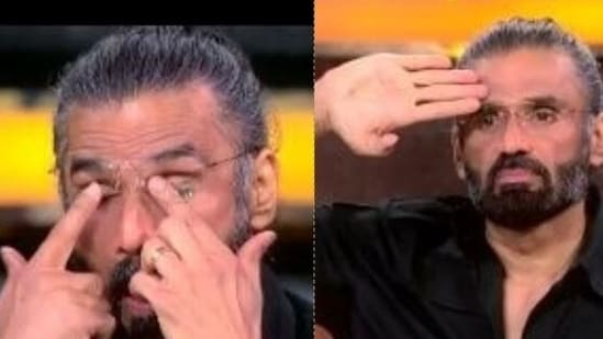 Suniel Shetty cried after watching a performance on Sandese Aate Hain.