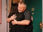Friends The Reunion review: Matt LeBlanc with Courteney Cox in a scene from the episode.