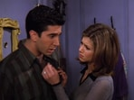 Jennifer Aniston and David Schwimmer in a still from Friends.