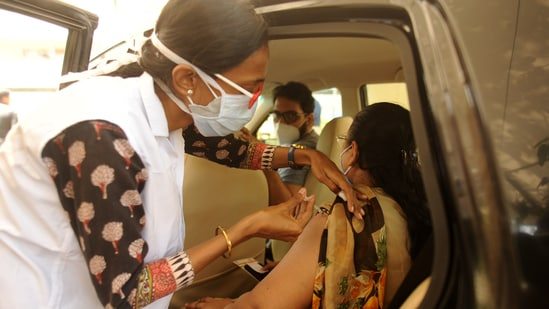 """Vaccines being in """"limited supply globally"""" has hampered efforts. (Photo by Vijay Bate/HT Photo)(Pratik Chorge/HT PHOTO)"""