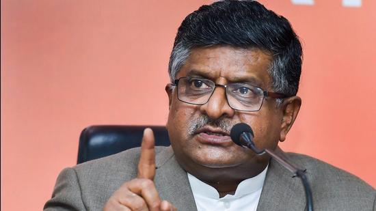 Union electronics and information technology minister Ravi Shankar Prasad. (File photo)