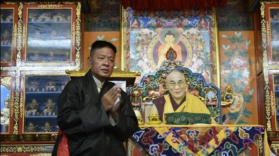 Penpa Tsering after being sworn in as Sikyong, or Preident, of the Tibetan government-in-exile, officially called the Central Tibetan Administration. (CTA)