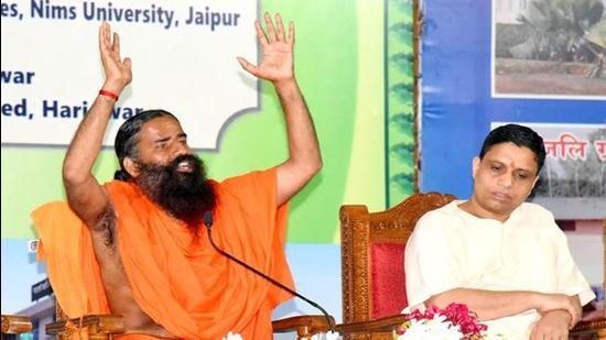 Baba Ramdev's continued questioning of allopathic medicines and therapy has led to the DMA filing a complaint against him. (ANI Photo/File)