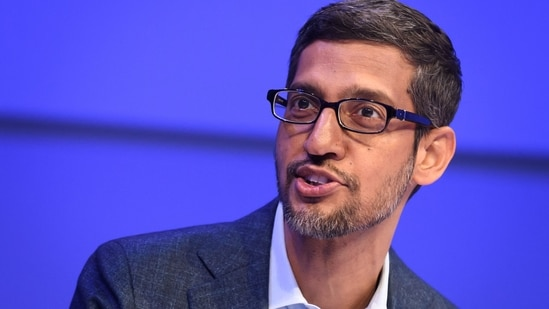 Sundar Pichai noted that technology is touching society in deeper and broader ways and the landscape is evolving at a fast pace. (AFP)