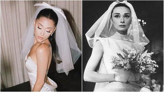 Ariana Grande on her wedding day(Instagram/arianagrande and IMDB)