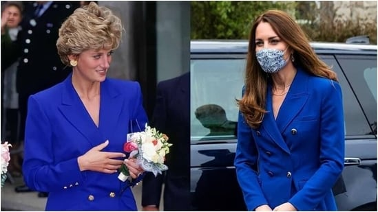 Kate Middleton's outfit reminds people of Princess Diana(Instagram/ladydiana__2)