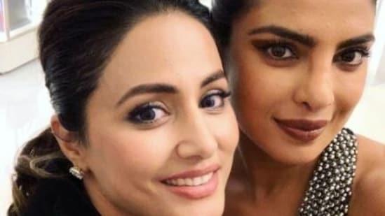 Hina Khan says she received a special message from Priyanka Chopra.