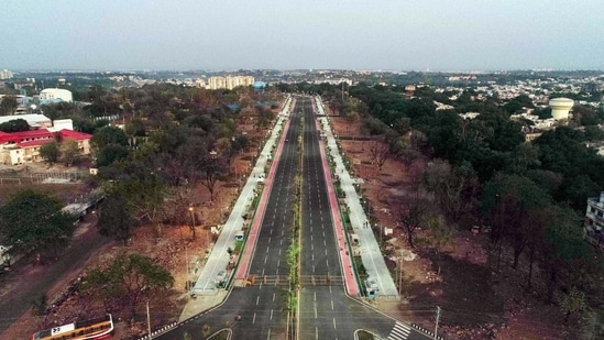 Janata curfew in Madhya Pradesh to be relaxed from June 1. In picture - Deserted streets during the lockdown in Bhopal.(PTI)