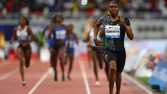 Caster Semenya of South Africa races. (Getty Images)