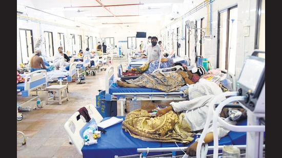 Andhra Pradesh's Chittoor district c ollector had insisted that 11 Covid patients died at Ruia hospital after disruption in oxygen in May 2021. (ANI Photo) (ANI)