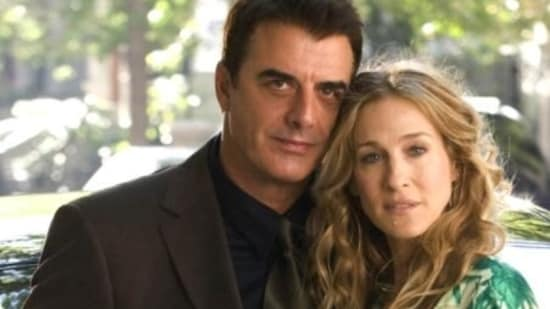Chris Noth and Sarah Jessica Parker in a scene from Sex and the City.