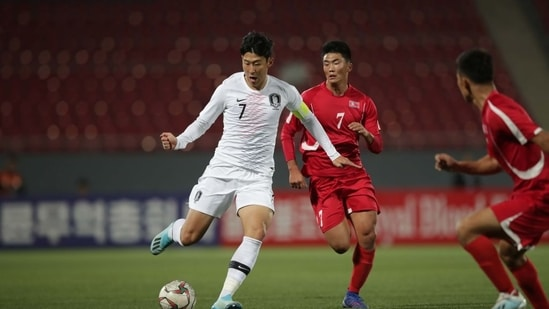 File Photo of a North and South Korea football match/(Twitter)