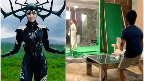 Viaan Raj Kundra imagined his mother Shilpa Shetty as Hela from Thor Ragnarok.