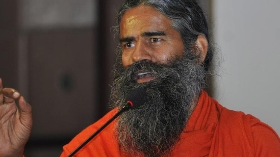 Baba Ramdev has been in the eye of a fresh controversy when he questioned the efficacy of allopathic medicines in treating the dreaded coronavirus.(Sunil Ghosh / HT file photo)