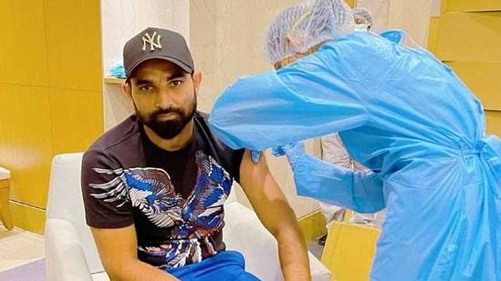 Mohammed Shami got vaccinated. (Mohammed Shami/Twitter)