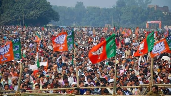 The Bharatiya Janata Party has set a target of covering 100,000 villages and organising 50,000 blood donation camps across the country for its cadre on May 30.(PTI photo for representation)