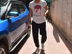 Ibrahim Ali Khan snapped at a clinic in Bandra, in Mumbai. He is the son of actor Saif Ali Khan and Amrita Singh.(Varinder Chawla)