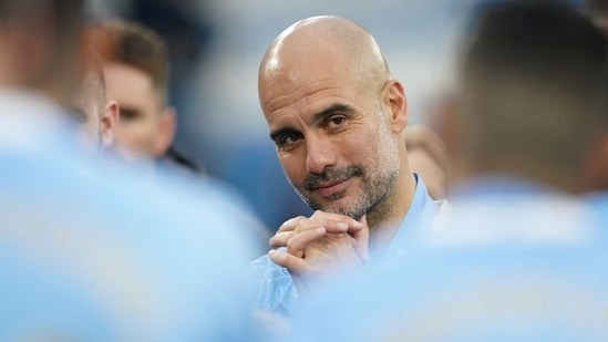 File Photo of Manchester City manager Pep Guardiola.(REUTERS)