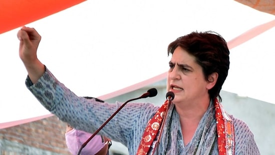 """""""Imposing GST on essential medical products like oxygen, ventilators, vaccines and medicines during a pandemic is cruel and insensitive,"""" said Priyanka Gandhi(ANI)"""
