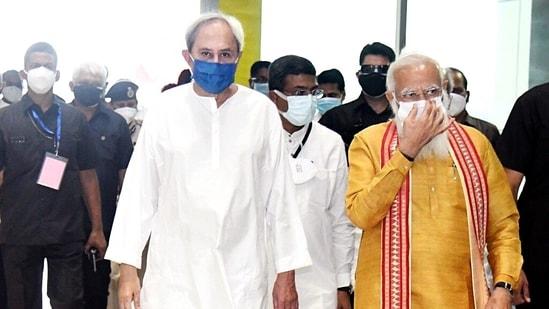 Prime Minister Narendra Modi arrives in Bhubaneswar on Friday. (ANI Photo)