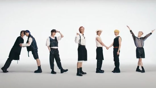 BTS members form ARMY, a nod to their fandom, in the music video of Butter.