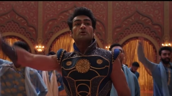 Kumail Nanjiani, who plays Kingo in Eternals, poses as a Bollywood superstar on Earth.(Instagram)