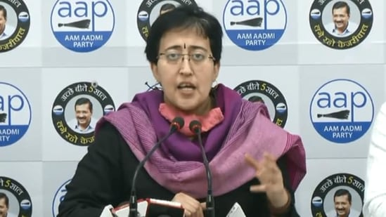 """""""The Centre created such an artificial scarcity that states have to buy from them only. The Centre should respond to this,"""" said AAP leader Atishi(Screengrab)"""