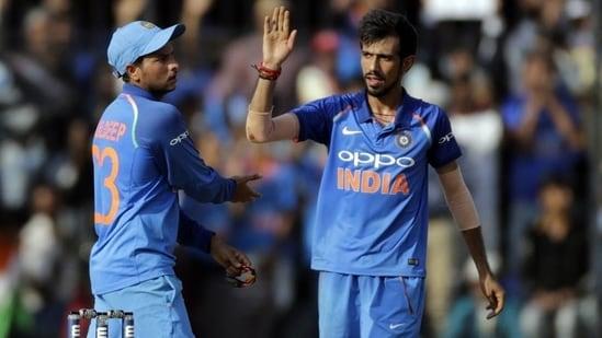 Indian cricket team spinners Kuldeep Yadav and Yuzvendra Chahal(AP)