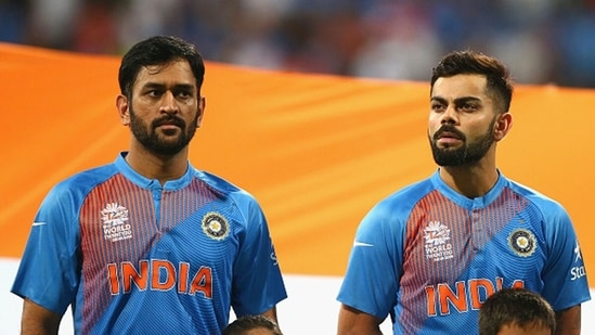 MS Dhoni and Virat Kohli during the 2016 World T20. (Getty Images)