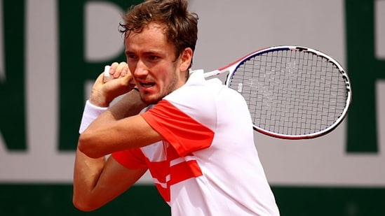 Daniil Medvedev during the 2019 French Open. (Getty Images)