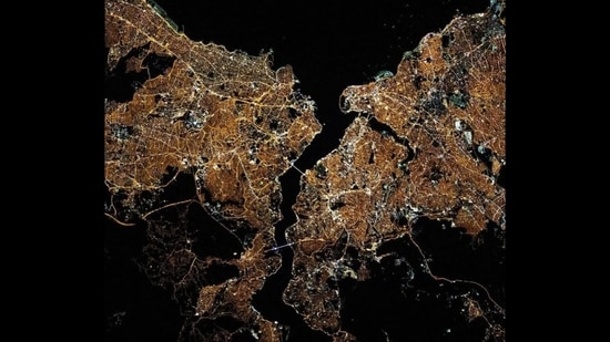 A photo of Istanbul shared by NASA(Instagram/NASA)