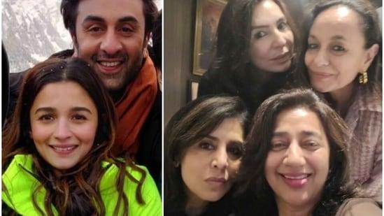 Alia Bhatt and Ranbir Kapoor's mothers Soni Razdan and Neetu Kapoor were together on Thursday.