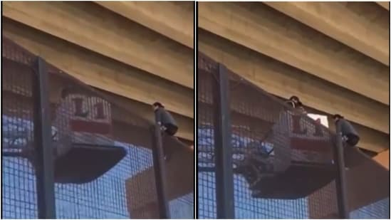 A video of the rescue effort surfaced online in which the CBP can be seen helping her down the border fence.(Twitter / @LuisKuryaki)