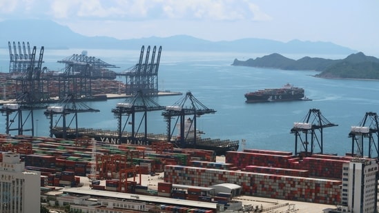 Yantian is one of the busiest ports in the world, with a cargo throughput of 13.34 million twenty-foot equivalent unit in 2020.(Reuters)