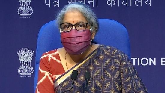 Union finance minister Nirmala Sitharaman.(ANI)
